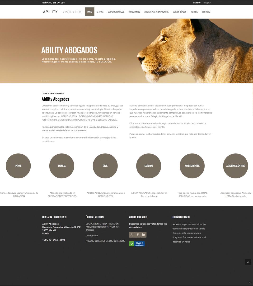 Diseño web Ability Abogados