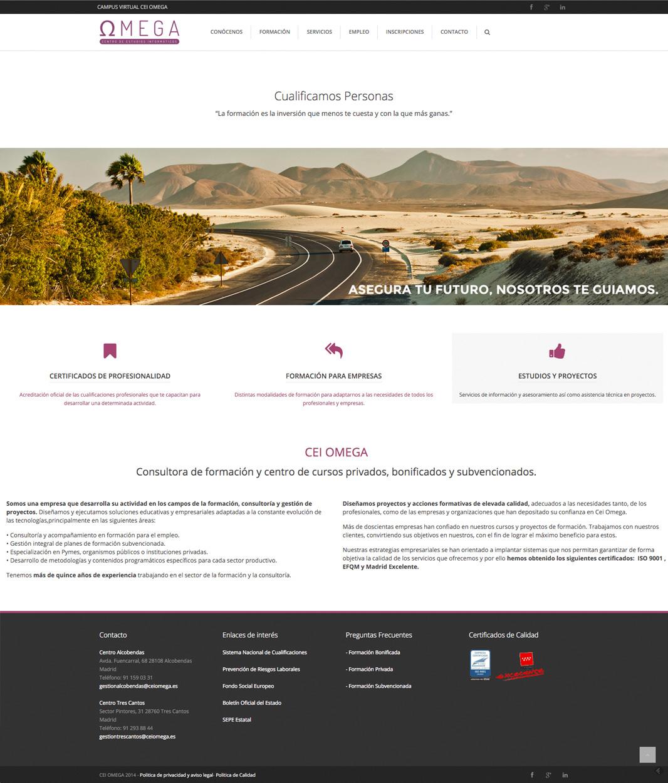 Diseño web CEI Omega