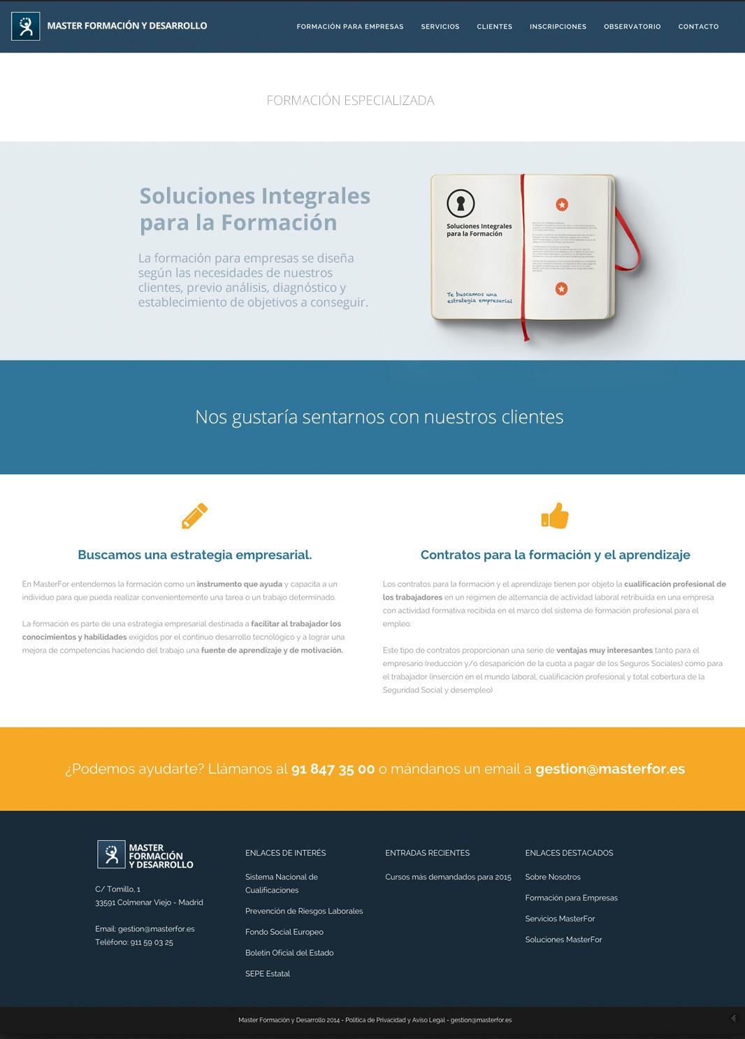 Diseño web MFD Formación
