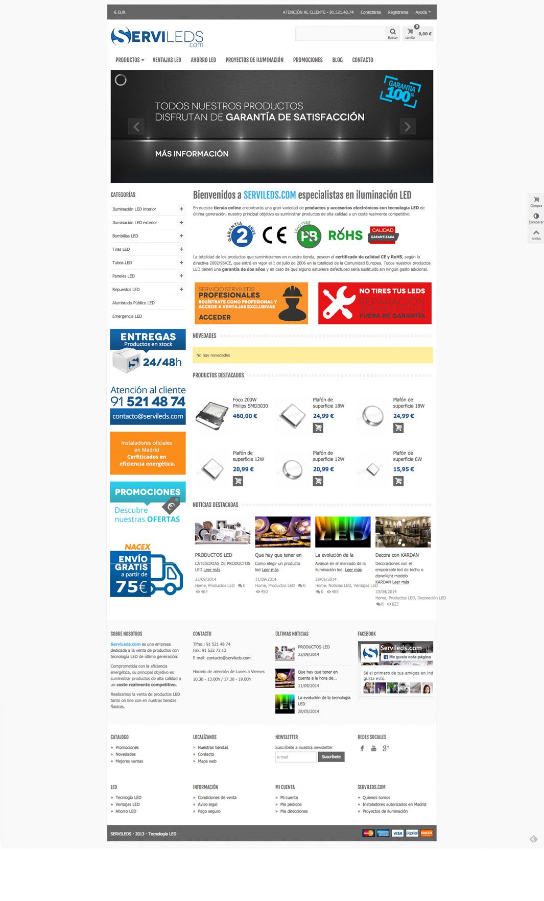Diseño web Servileds