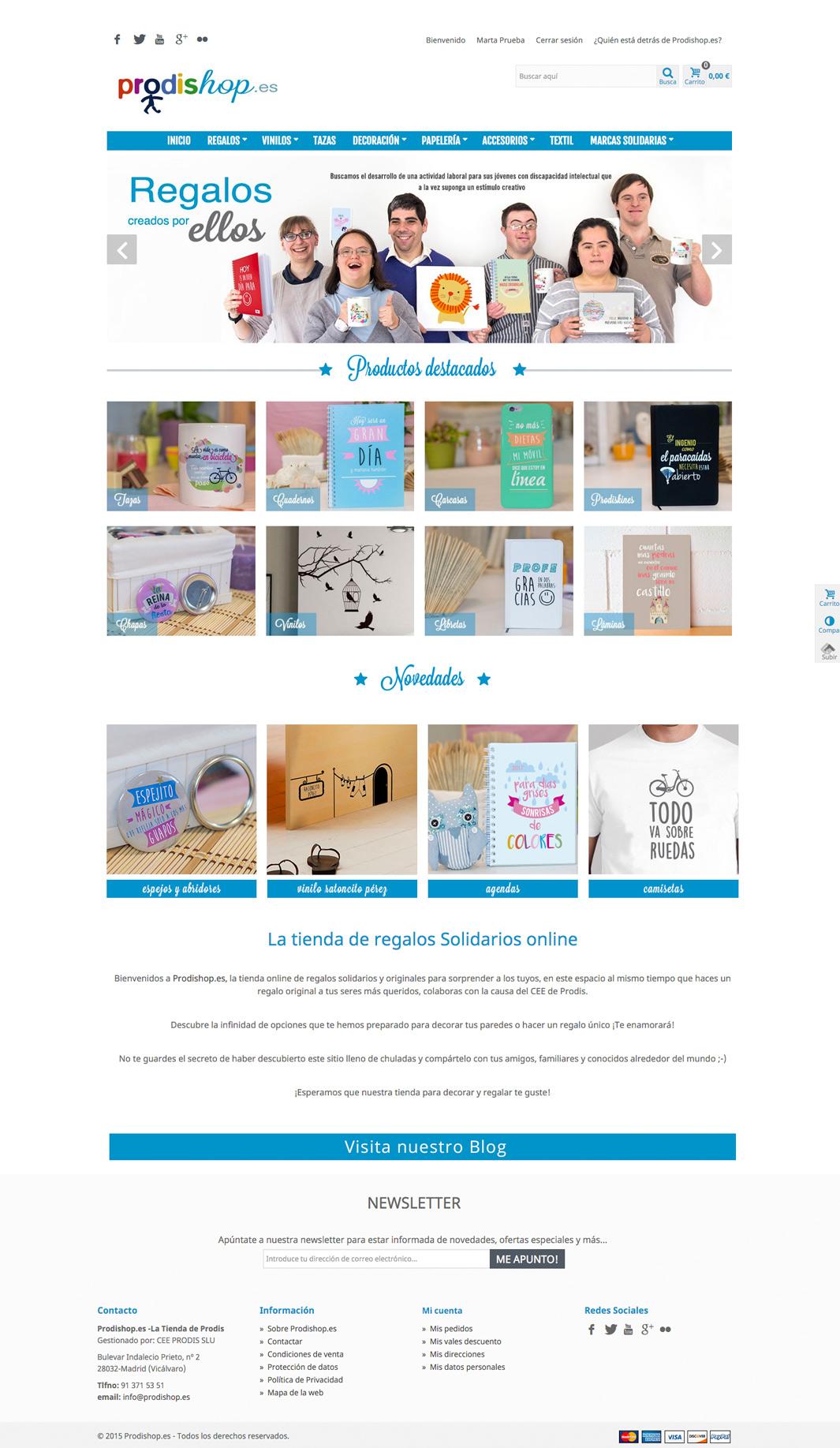 Diseño web Prodishop
